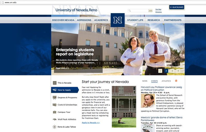 Nvma on unr homepage