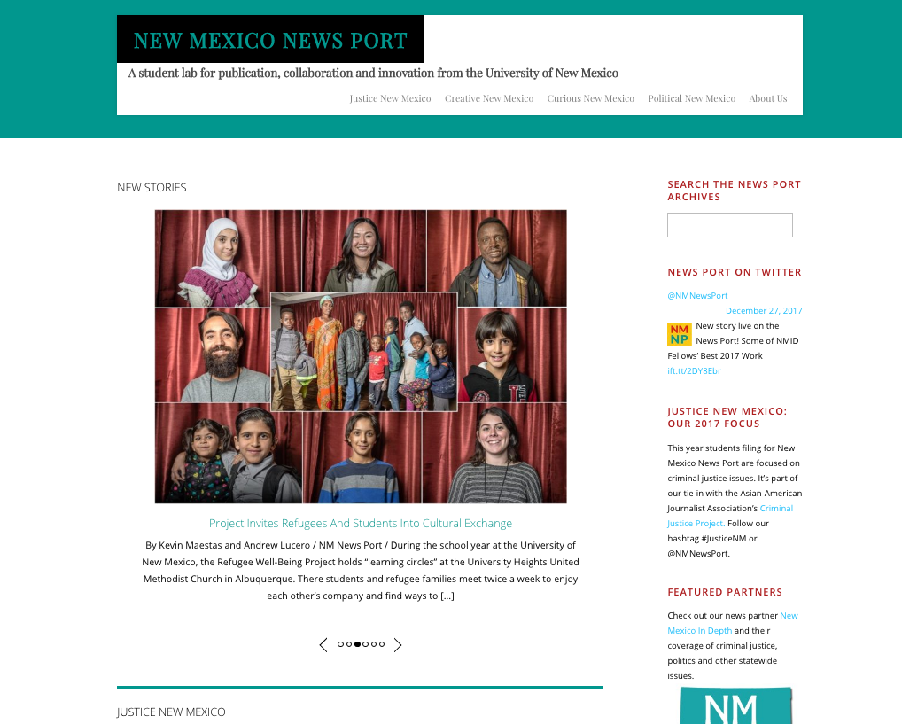 The New Mexico News Port -- Part One: Mission and Structure