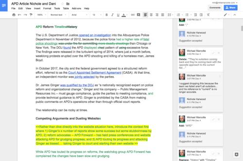 Sample Google Doc Edit