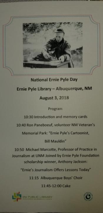 Ernie Pyle Day Program
